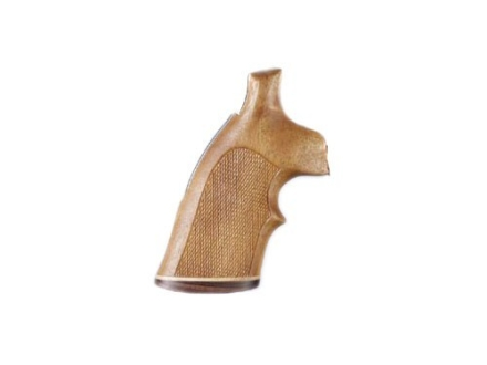 Hogue Fancy Hardwood Grips with Accent Stripe and Top Finger Groove S&W N-Frame Square Butt Checkered Goncalo Alves