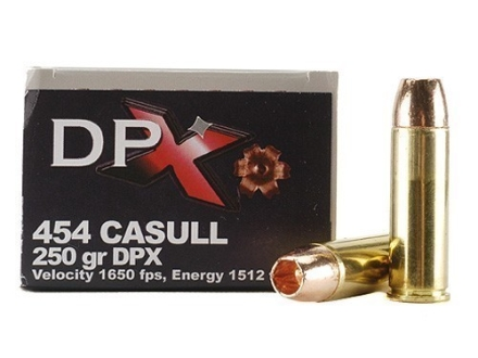 Cor-Bon DPX Ammunition 454 Casull 250 Grain Barnes XPB Hollow Point Lead-Free Box of 20