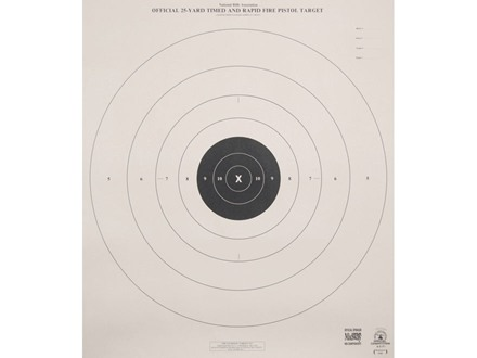 NRA Official Pistol Target B-8(P) 25 Yard Timed and Rapid Fire Paper Package of 100