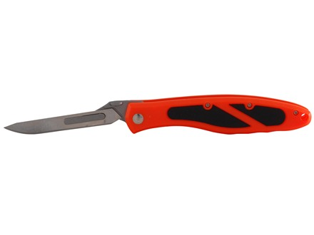 "Havalon Piranta Edge Folding Skinning Knife 2-3/4"" 60XT Stainless Steel Blade ABS Handle Orange"