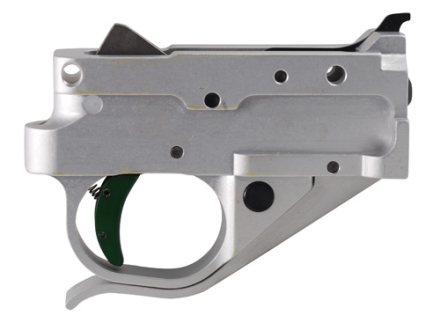 Timney Trigger Guard Assembly Ruger 10/22 2-3/4 lb Aluminum Green with Silver Lower