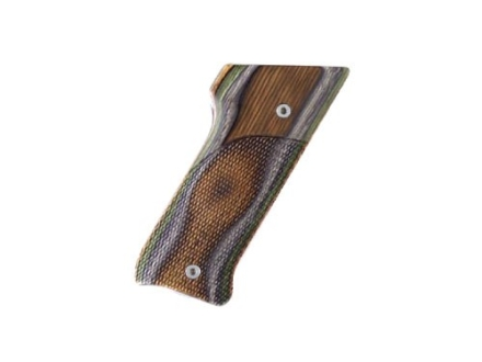 Hogue Fancy Hardwood Grips Ruger Mark II with Right Hand Thumbrest Checkered Lamo Camo