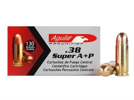 Aguila Ammunition 38 Super A+P 130 Grain Full Metal Jacket Box of 50
