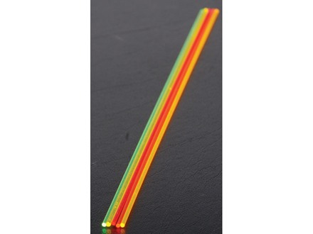 "TRUGLO Replacement Fiber Optic Rod 5.5"" x .040"" Green, Orange, Red, Ruby Red, Yellow Package of 5"