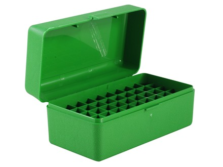 MTM Flip-Top Ammo Box 7mm Winchester Short Magnum (WSM), 300 Winchester Short Magnum (WSM), 45-70 Government 50-Round Plastic