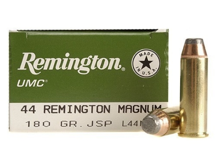 Remington UMC Ammunition 44 Remington Magnum 180 Grain Jacketed Soft Point Box of 50