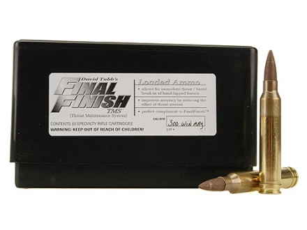 Tubb Final Finish Throat Maintenance System TMS Ammunition 300 Winchester Magnum Box of 20