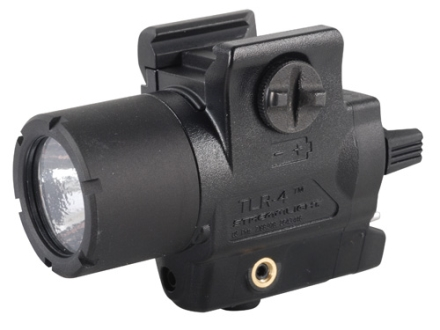 Streamlight TLR-4 Compact Tactical Illuminator Flashlight White LED and Laser  Fits Glock Rails Polymer Matte