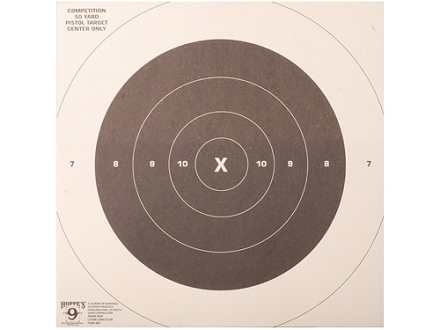 Hoppe&#39;s Slow Fire Target 50 Yard Pistol Package of 20