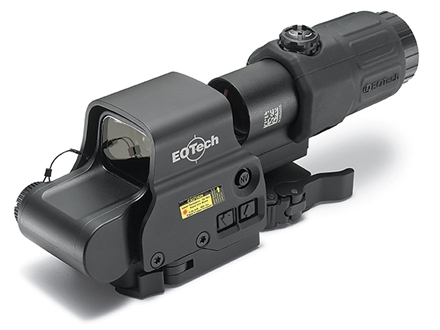 EOTech EXPS2-2 Holographic Hybrid Sight II 65 MOA Circle with (2) 1 MOA Dots Reticle with G33 3X Magnifier and Switch to Side QD mount Matte