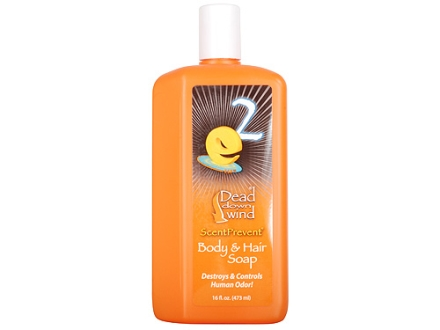 Dead Down Wind e2 ScentPrevent Scent Eliminator Body &amp; Hair Soap Liquid 16 oz