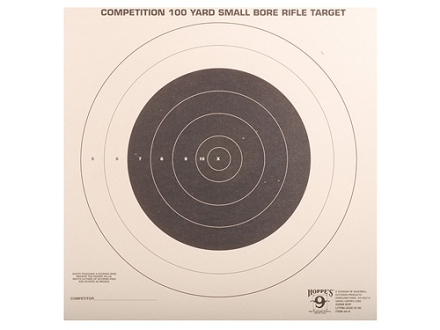 Hoppe&#39;s Single Bull Target 100 Yard Small Bore Rifle Package of 20