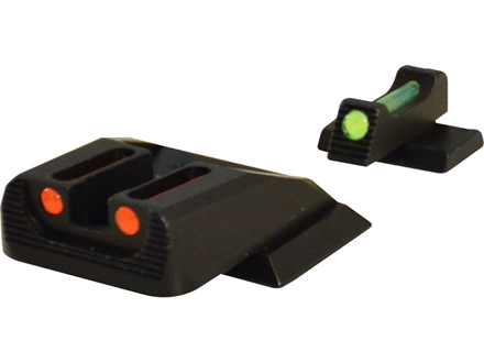 Williams Fire Sight Set Smith &amp; Wesson M&amp;P Fiber Optic Red Front, Green Rear Steel Blue