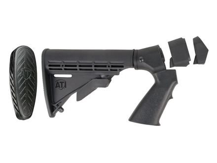Advanced Technology Shotforce 6-Position Collapsible Stock with Pistol Grip & Scorpion Recoil Pad Remington 870, Mossberg 500, 590, 835 12 Gauge Polymer Black