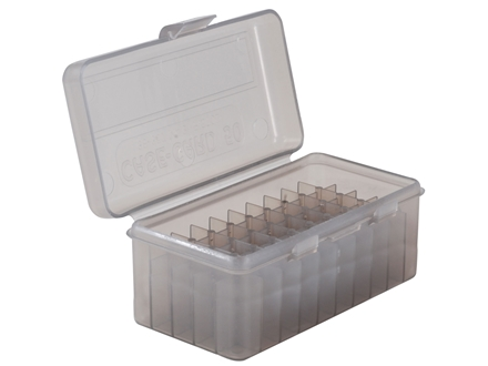 MTM Flip-Top Ammo Box 17 Remington, 204 Ruger, 223 Remington 50-Round Plastic