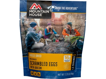 Mountain House Scrambled Eggs and Bacon Freeze Dried Meal 2.3 oz