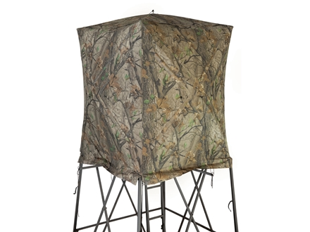 Big Game The Vertex Elevated Box Blind Nylon Blind Steel Legs Nylon Blind Matrix Camo