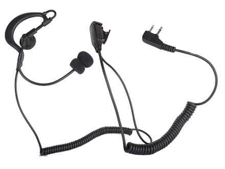Midland TH1 Tactical Earphone with Boom Mic Black
