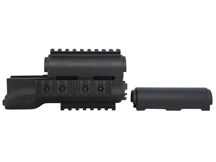 Hogue 2-Piece OverMolded Handguard AK-47, AK-74 Stamped Receivers Rubber Black