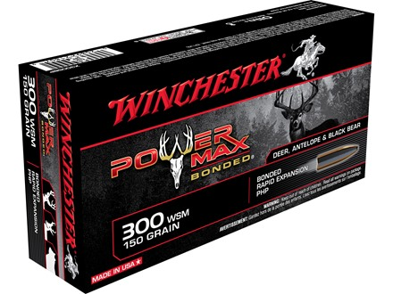 Winchester Super-X Power Max Bonded Ammunition 300 Winchester Short Magnum (WSM) 150 Grain Protected Hollow Point Box of 20