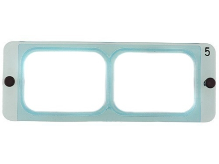 Donegan Optical OptiVISOR Magnifying Headband Visor Replacement Lens Plate 2-1/2X at 8""