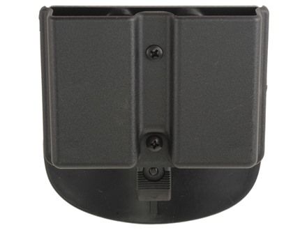Uncle Mike's Double Magazine Belt Pouch for Single Stack Magazines Paddle Kydex Black