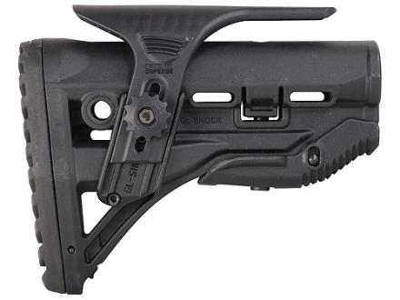 Mako Recoil Reducing Buttstock with Adjustable Cheek Rest Collapsible Mil-Spec or Commercial Diameter AR-15, LR-308 Carbine Synthetic Black