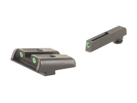 TRUGLO TFO Sight Set Glock 20, 21, 29, 30, 31, 32, 37 Steel Tritium / Fiber Optic Green