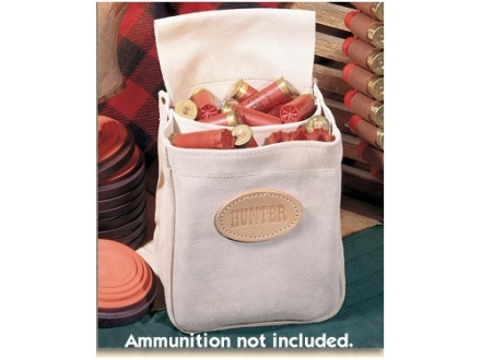 Hunter Divided Shotgun Shell Pouch Suede Tan