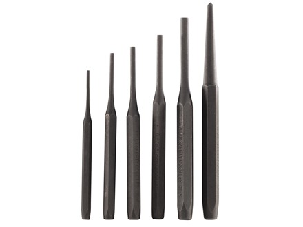 Wisdom Drive Pin Punch Set 6-Piece Steel