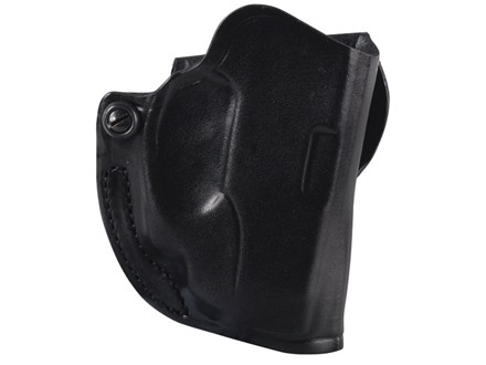 DeSantis Mini Scabbard Outside the Waistband Holster Right Hand Ruger LC9 with Crimson Trace LG412 Laser Leather Black