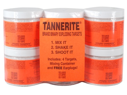 Tannerite Exploding Rifle Target 1 lb. Jar Package of 4