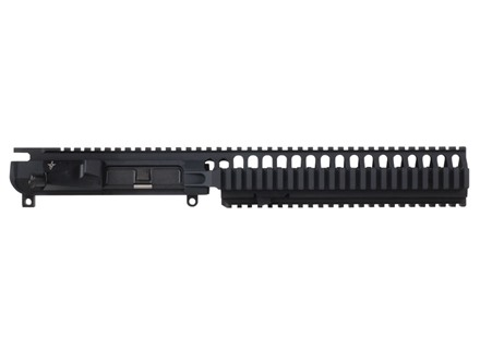 "Vltor VIS Upper Receiver with Integral 10"" Extended Mid Length Free Float Quad Rail Handguard & Combination Forward Assist / Shell Deflector Assembled AR-15 Flat-Top Matte"