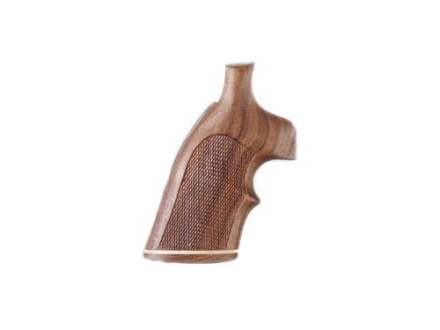 Hogue Fancy Hardwood Grips with Accent Stripe and Top Finger Groove Colt Trooper Mark III Checkered Pau Ferro