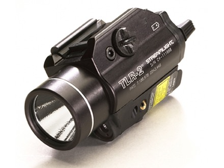 Streamlight TLR-2 Tactical Illuminator Flashlight White LED with Laser and Batteries Fits Picatinny or Glock-Style Rails Aluminum Matte