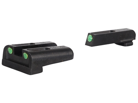 TRUGLO TFO Sight Set Springfield XD, XDM Steel Tritium / Fiber Optic Green