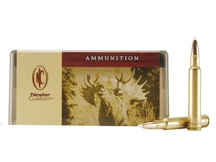 Nosler Custom Ammunition 340 Weatherby Magnum 225 Grain AccuBond Spitzer Box of 20