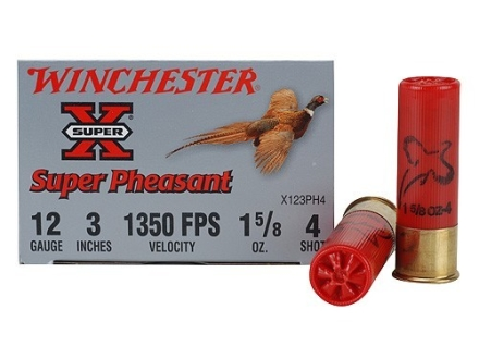 "Winchester Super-X Pheasant Ammunition 12 Gauge 3"" 1-5/8 oz #4 Shot"