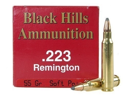 Black Hills Ammunition 223 Remington 55 Grain Soft Point Box of 50
