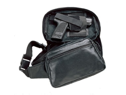 DeSantis Gunny Sack Junior Fanny Pack Holster Ambidextrous Medium Frame Revolver and Semi-Automatic Nylon Black