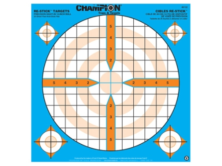 Champion Re-Stick Precision Sight-In Self-Adhesive Target 14.5&quot; x 14.5&quot; Paper Pack of 25