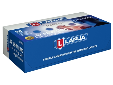 Lapua Ammunition 32 S&amp;W Long 86 Grain Lead Wad Cutter Box of 50
