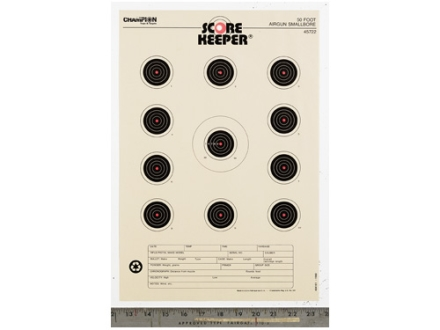 Champion Score Keeper 50 Ft Air Gun Small Bore Target 11&quot; x 16&quot; Paper Orange Bull Package of 12