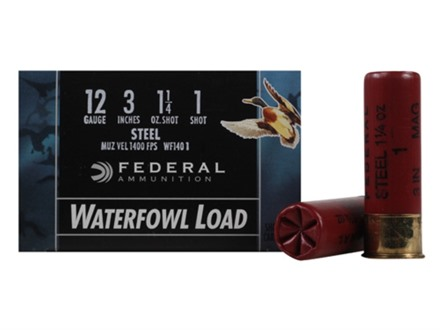 "Federal Speed-Shok Waterfowl Ammunition 12 Gauge 3"" 1-1/4 oz #1 Non-Toxic Steel Shot"