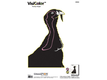 "Champion VisiColor Turkey Target 11"" x 16"" Paper Package of 10"