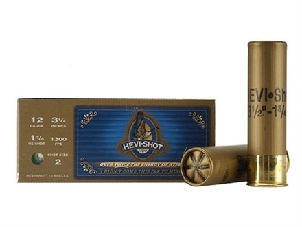 "Hevi-Shot Goose Waterfowl Ammunition 12 Gauge 3-1/2"" 1-3/4 oz #2 Non-Toxic Shot"