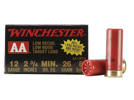 Winchester AA Low Recoil Target Ammunition 12 Gauge 2-3/4&quot; 7/8 oz #8 Shot