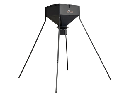 Big Game 200 lb Standing Game Feeder Steel Black