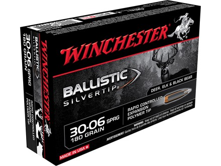 Winchester Supreme Ammunition 30-06 Springfield 180 Grain Ballistic Silvertip Box of 20