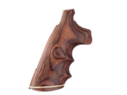 Hogue Fancy Hardwood Grips with Accent Stripe, Finger Grooves and Contrasting Butt Cap Colt Anaconda, King Cobra Rosewood Laminate